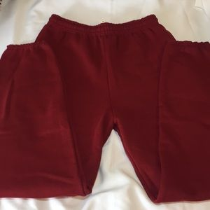 Other - Red Elastic Band Sweatpants